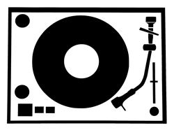 Laptop Decals-Music-Turntable