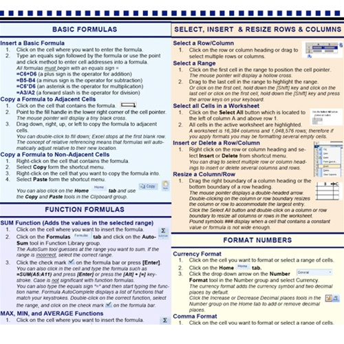 Microsoft ms excel 2007 introduction tip tips tricks cheat sheet get fandeluxe Choice Image