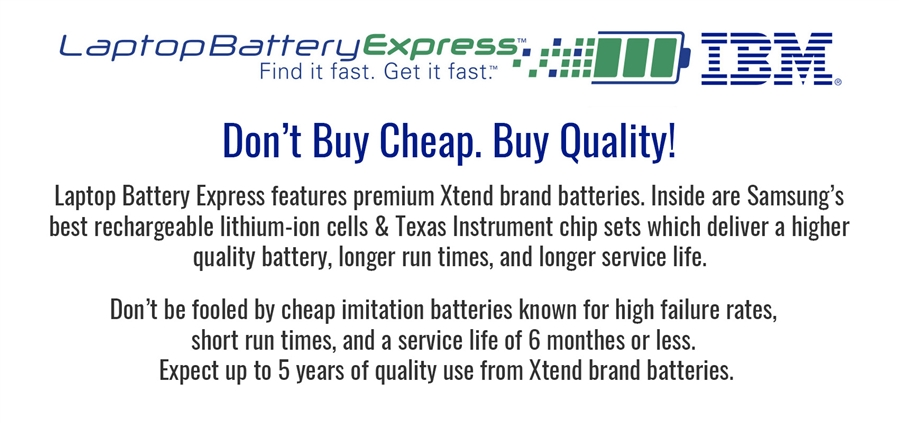 IBM Laptop Batteries | LaptopbatteryExpress com