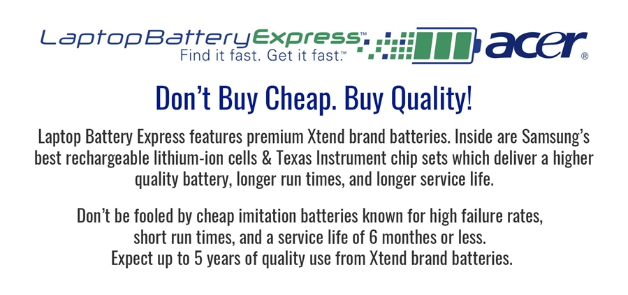 Acer Laptop Batteries and Chargers | Laptop Battery Express
